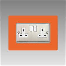 Socket Surround double 3mm 16 Colours Acrylic Finger Plate Light Switch Plug