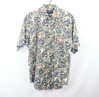 Vintage 90s Mens Large Fresh Prince Abstract Geometric Short Sleeve Shirt USA