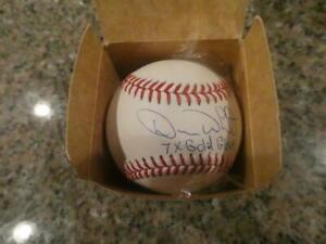 Devon White Toronto Blue Jays Signed MLB Baseball COA  Inscription 2