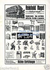 Eisenwaren Nagel Halberstadt XL Reklame von 1920 Hauswaren Küchengeräte Werbung