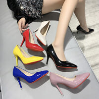 Fashion Womens Party Stiletto Pointed-toe High Heel Pumps Wedding Elegant Shoes