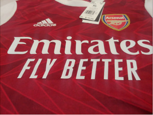 $70 adidas Arsenal 20/21 Home Soccer Youth Jersey Red White FH7816