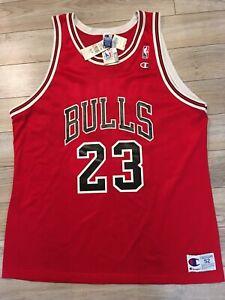 Michael Jordan #23 Chicago Bulls NBA Champion Maglia 52 XXL Nwt Nuovo