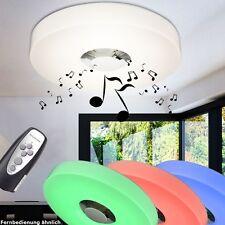 Design Decken Lampe MP3 Musik Lautsprecher LED Beleuchtung Party Keller 15 Watt