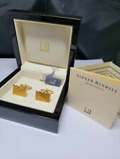 Vintage Dunhill, Gold plated Cufflinks - box and tags