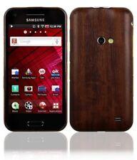 Skinomi Phone Skin Dark Wood Cover+Screen Protector Film for Samsung Galaxy Beam