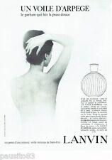 PUBLICITE ADVERTISING 116  1966  Lanvin  parfum Un voile d'Arpège