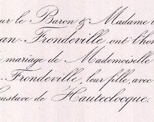 Marie De Morgan-Frondeville 1859 Gustave De Hauteclocque