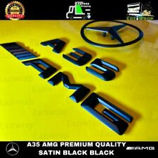 Eaziwrap Mercedes A35 AMG SATIN BLACK 3D Tailgate Boot Badge Emblem Package
