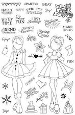 Prima Julie Nutting ~ Holiday Bliss ~ Planner Clear Stamp Set ~ Brand New