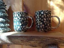 Tienshan Moose Country Folk Craft Sponge Set Of 2 Mugs