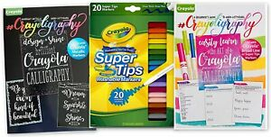 Crayoligraphy, Beginners Set With 2 Books and Crayola Super Tips Markers