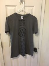 Volkswagen VW T-shirt ~ Gray with VW Symbol & Tire Tread ~ Size M ~ Adult Size