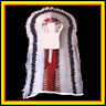 "Genuine Native American Navajo Indian Headdress 68"" BLACK CLOUD Double Trailer"