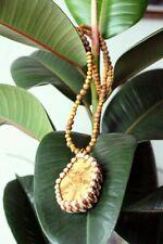 Ayahuasca Hemp Necklace, Banisteriopsis Caapi Talisman, Spirit Vine Pendant