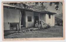 Costa Rica Postcard Peasants House 1940 JBP
