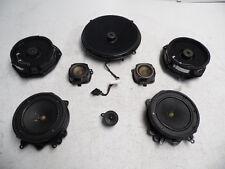 04-10 AUDI A8 A8L SPEAKER SPEAKERS SET OF 8 DOOR FRONT REAR SUB WOOFER BOSE OEM