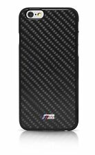 BMW Cover Posteriore Clipon CASE CUSTODIA CELLULARE PER IPHONE 6s CARBON M POWER STYLE BLACK