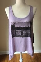 Eye Candy Burnout Asymmetrical Swing Size: Large Lilac Tank Top NWT