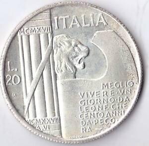 1943 Mussolini 20 Lire Fantasy Coin Italian Token Italia MCMXLII L.20 Free Post