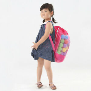 Beach Backpack Bag Mesh Toy Storage Bags Pool Toys Drawstring for Home Travel