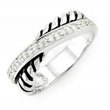 Sterling Silver Ring with Cubic Zirconia Size 9