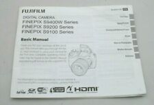 GENUINE BASIC USER MANUAL INSTRUCTION BOOK FUJI FINEPIX S9400W S9200 S9100