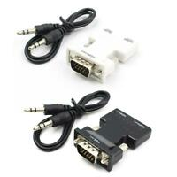Female To VGA Male Converter With Audio Adapter Support 1080P Signal Output HDMI