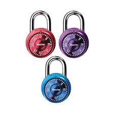 Master Lock Padlock, Mini Dial Combination Lock, 1-9/16 in. Wide, Color Assor.