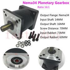 16:1 Nema34 Planetary Speed Reducer Input 14mm Gearbox for 86mm Stepper Motor