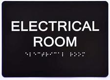 Electrical Room Sign Black Aluminium Blacksilversize 5x7 The Sensation Line