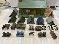 1950's Marx Toy US Army Headquarters Training Center w/ Furnishing Accessories