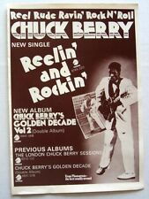 CHUCK BERRY 1972 promo ADVERT REELIN AND ROCKIN