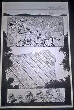 Armorines #2 Page 13 Vol. 2 Original art Jim Calafiore & Mark McKenna Acclaim