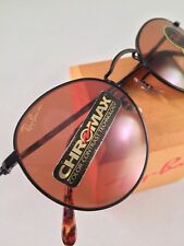 Vintage Ray Ban Bausch And Lomb Black Round Tortoise Chromax Sunglasses NOS