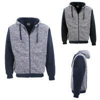 Men's Women's Thick Two Tone Sherpa Fur Fleece Zip Up Hoodie Jacket Coat Sweater