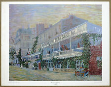 Vincent Van Gogh Restaurant of Sirene Vintage Original Lithograph Print 1960's