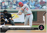 2020 MLB Topps Now card #52 MIKE TROUT homers 1st at-bad after becoming father