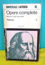 Platone OPERE COMPLETE vol. 7 Minosse Leggi Epinomide - Universale Laterza