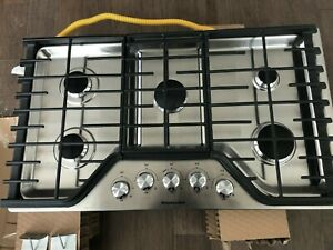 "KitchenAid KCGS356ESS 36"" Stainless Natural 5-Burner Cooktop"