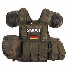 MFH Flecktarn Camo Tactical MOLLE RAV RICAS Armour Carrier Vest and Pouch Set