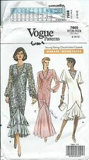 Vogue 7669 sewing pattern Mermaid DRESS sew Wedding GOWN Bride Prom size 8,10,12