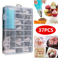 37PCS Cream Pastry Bag Cake Decoration Icing Piping Nozzles Tube Mold Tools