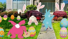 Miss Fantasy 24Pcs Easter Yard Signs Decorations, Chick and Eggs Stake.