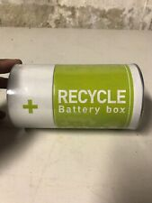 Monkey Business The Battery Recycling Bin Tin Container, Two Compartments