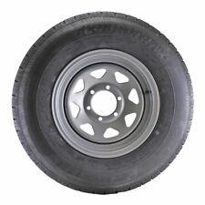 ST235/80R16 Globaltrax Trailer Tire LRE on 6 Bolt Silver Spoke Wheel