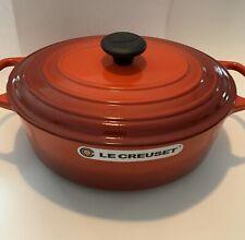 New listing Le Creuset Cast Iron Signature Oval Dutch Oven 5 Qt Cerise
