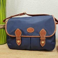 Longchamp Saddlebag Messenger blau neuwertig crossbody Umhängetasche