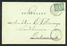Nederland briefkaart 1902 grootrondstempels ZWOLLE-ZUTPHEN III en DEDEMSVAART