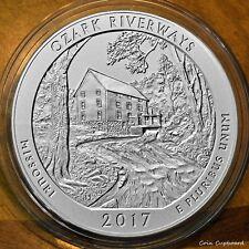 2017-P America the Beautiful quarter, Ozark Riverways, 5oz .999 silver w/OMP
